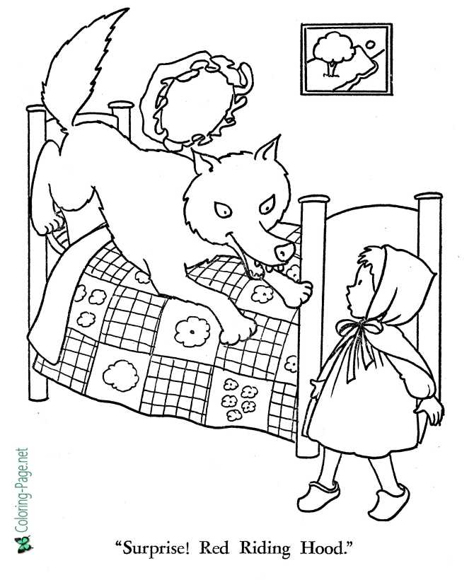 printable Little Red Riding Hood coloring pages