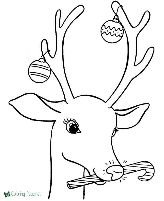 Rudolph The Red Nose Reindeer Coloring Pages