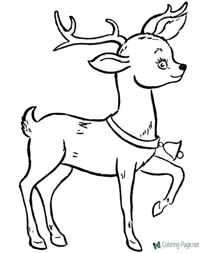 rudolph the red nose reindeer christmas coloring pages