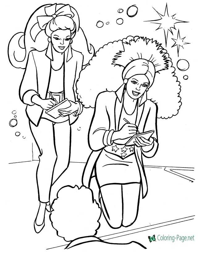 Rock Stars Coloring Pages
