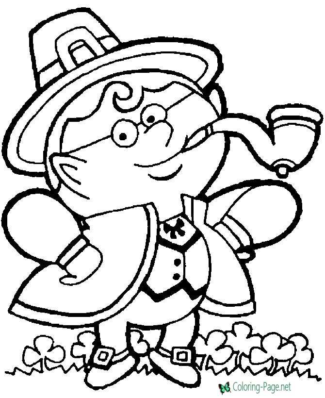 Leprechaun on St Patrick´s Day Coloring Pages