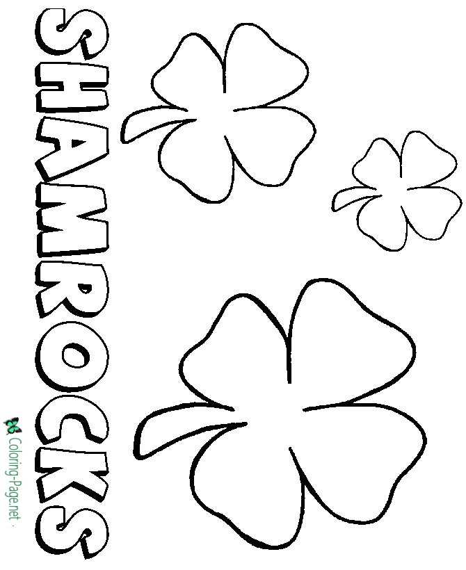 Shamrocks on St Patrick´s Day Coloring Pages