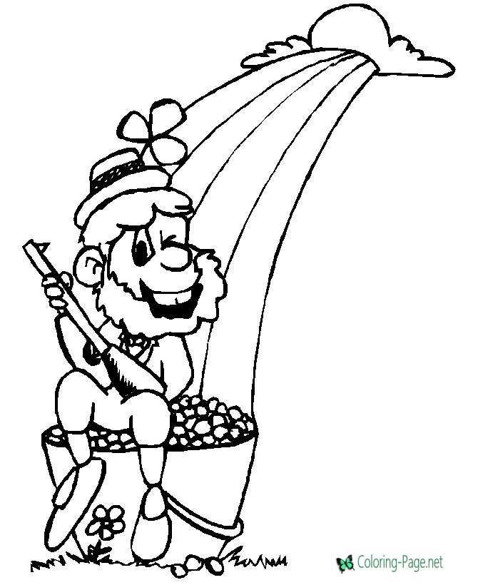 St Patrick´s Day Coloring Pages Rainbow
