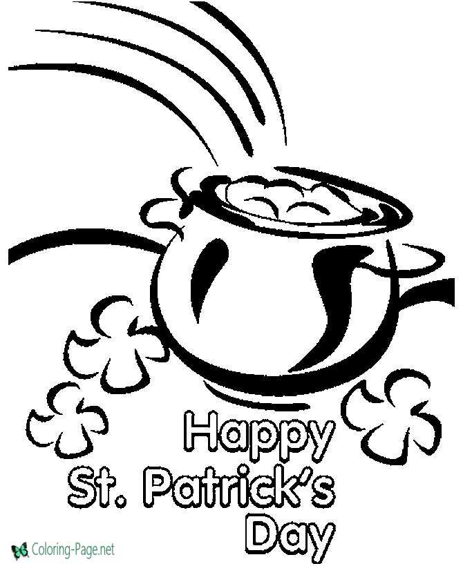 Patrick Day Coloring Pages