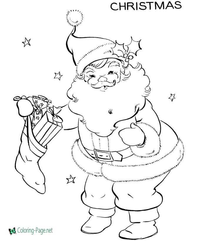 Santa Coloring Pages to Print and Color