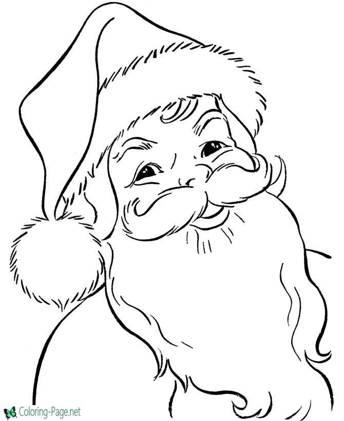 Best Printable Santa Coloring Pages
