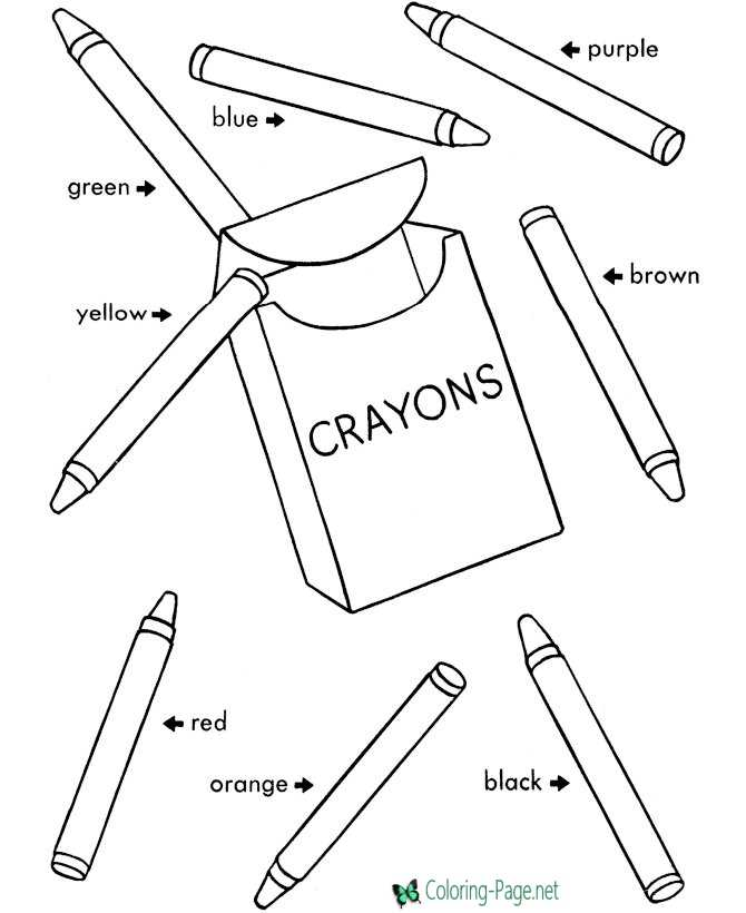 print school coloring pages