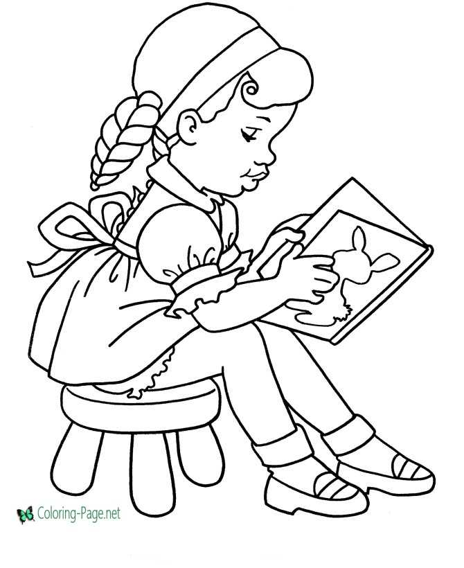 Sunday School Kids  Palm Branch coloring page