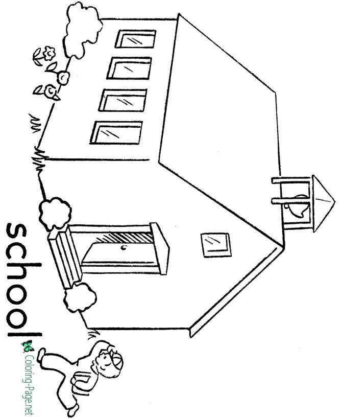 school coloring page printable