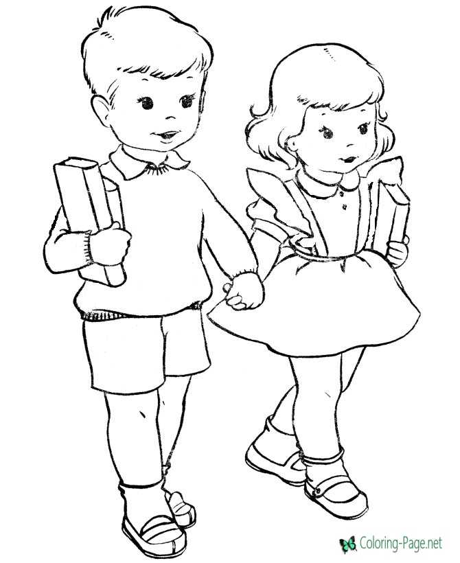 Printable kids coloring page