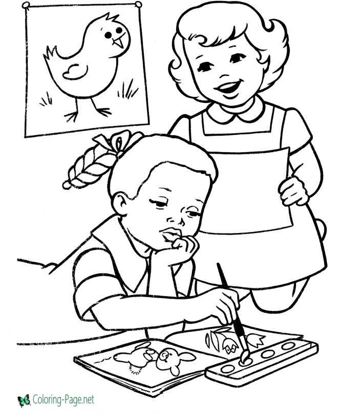coloring page for school