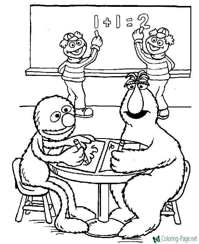 Free Printable Sesame Street Coloring Pages For Kids | 820x670