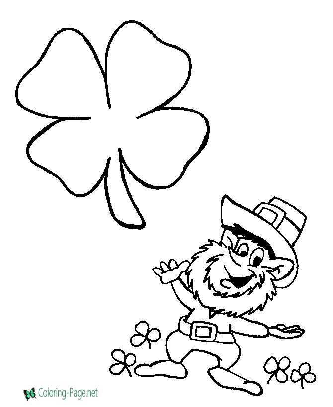 shamrocks pictures to color