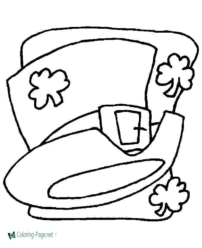 Shamrock Coloring Pages Shamrocks Hat