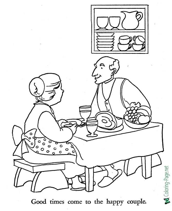 printable Shoemaker and the Elves coloring page