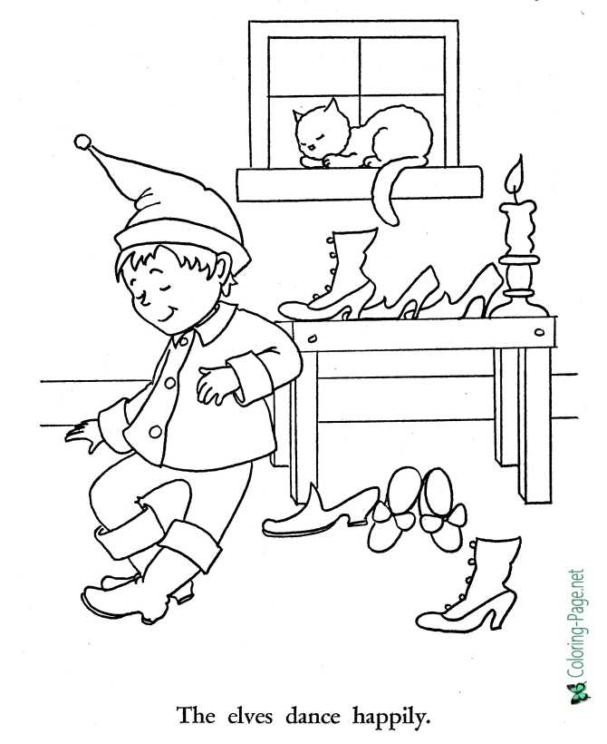 Shoemaker And Elves Coloring Pages - Fairy Tale