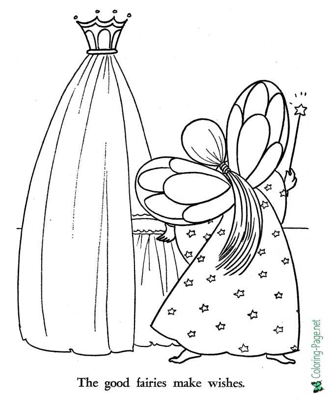 coloring page for Sleeping Beauty