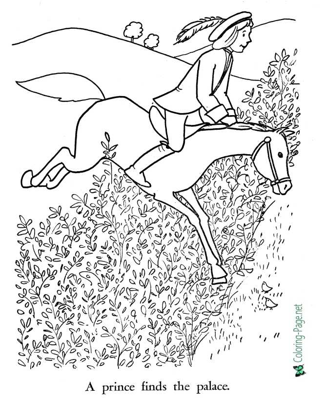 print world coloring page for Sleeping Beauty