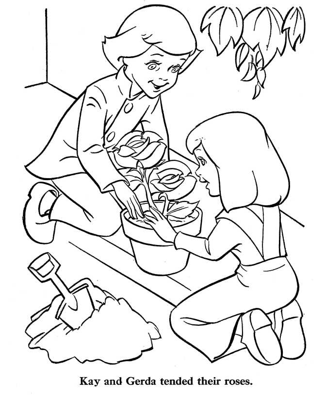 Snow Queen Coloring Pages Fairy Tales