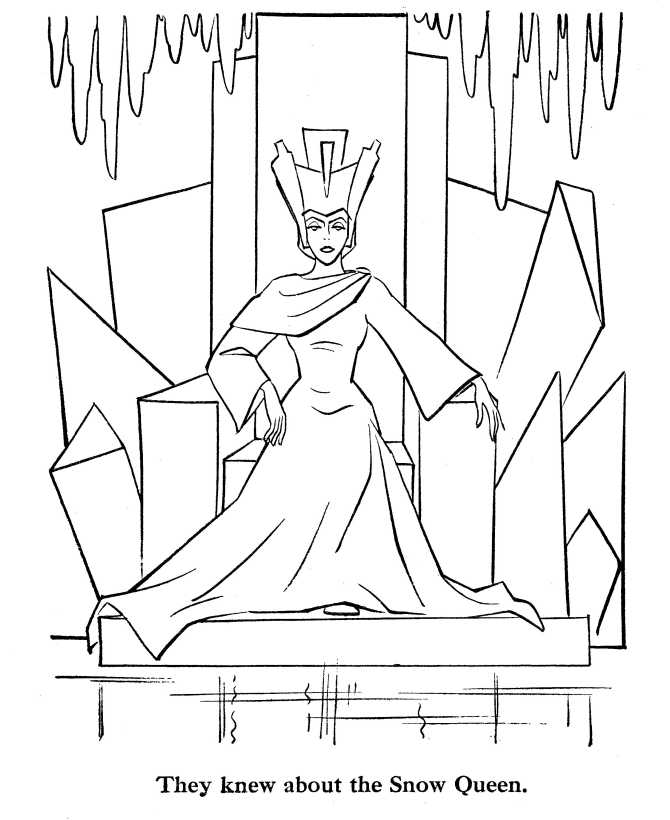 Snow Queen coloring page for children