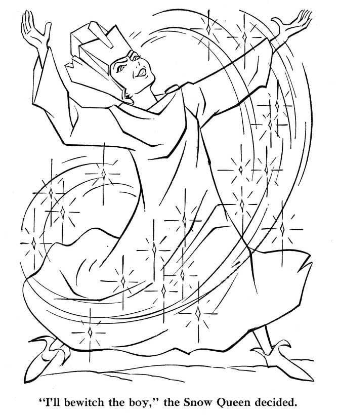 Snow Queen Coloring Pages 06 - Fairy Tales