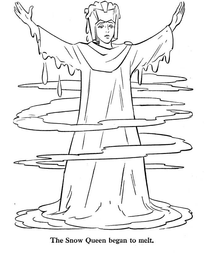 print Snow Queen coloring page