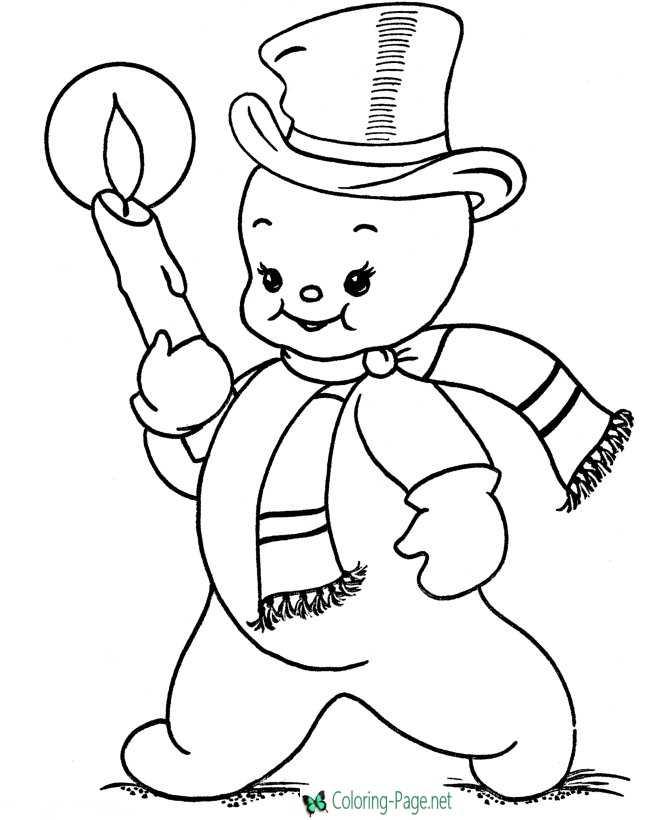 snowmen coloring pages children - photo#21