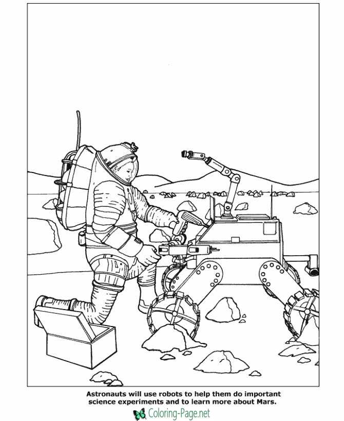 Space Coloring Pages Science Experiments