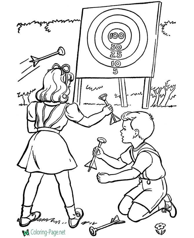 Archery Sports Coloring Pages