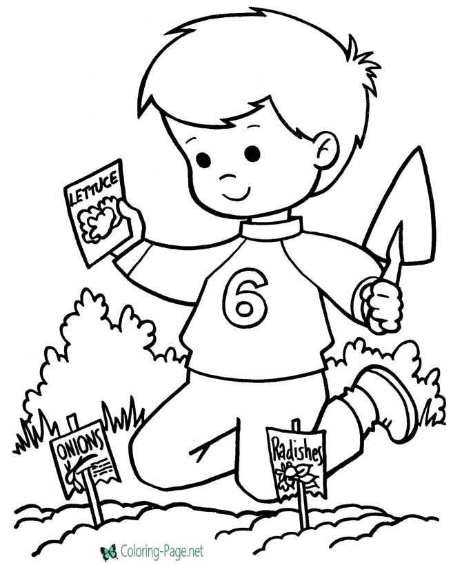 Printable Spring Coloring Pages Planting Seeds - Seed-coloring-page