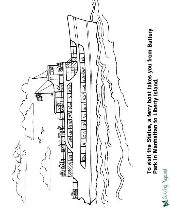 Lady liberty coloring pages