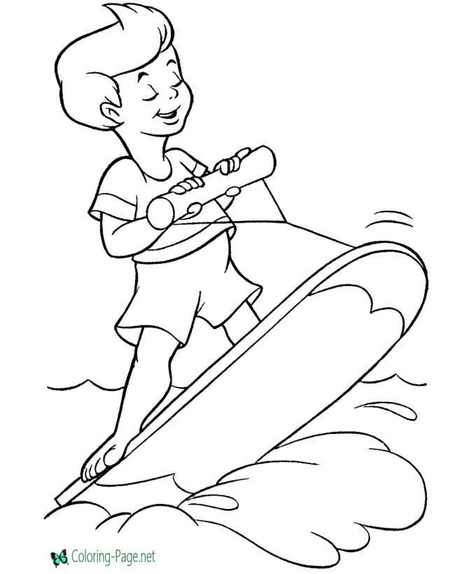 - Summer Coloring Pages