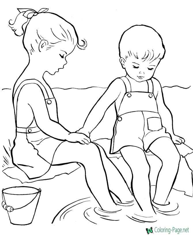Boy Girl Coloring Page Boys And Girls Wear Colouring Pages Boys ... | 820x670