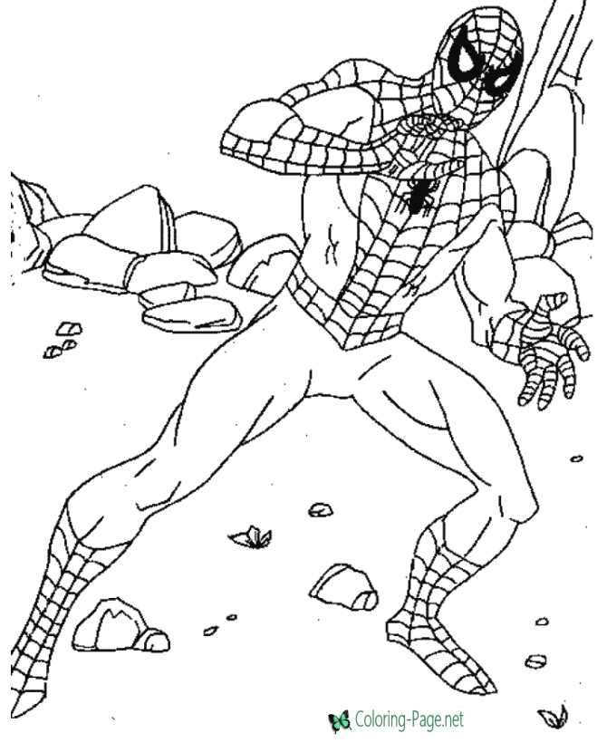 Print Super Hero coloring page