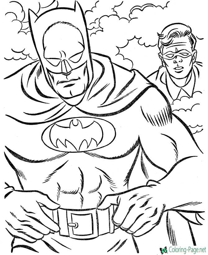 printable Super Hero coloring pages