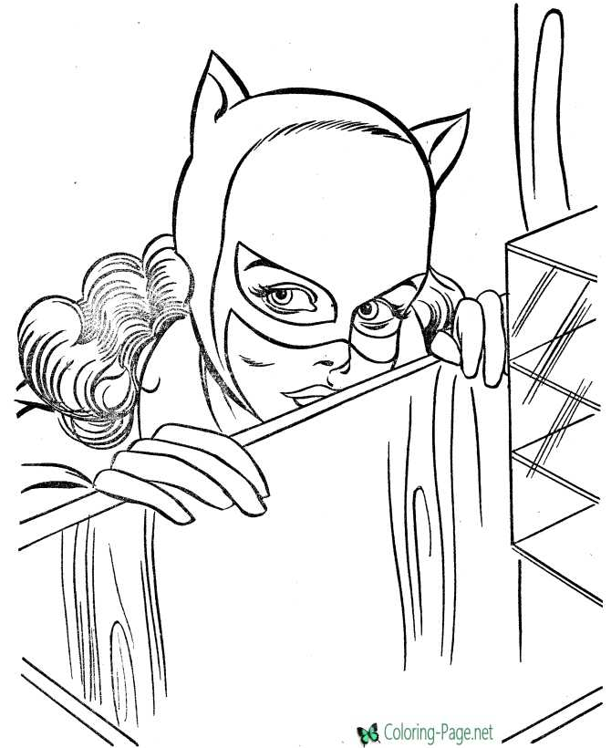 print hero coloring page