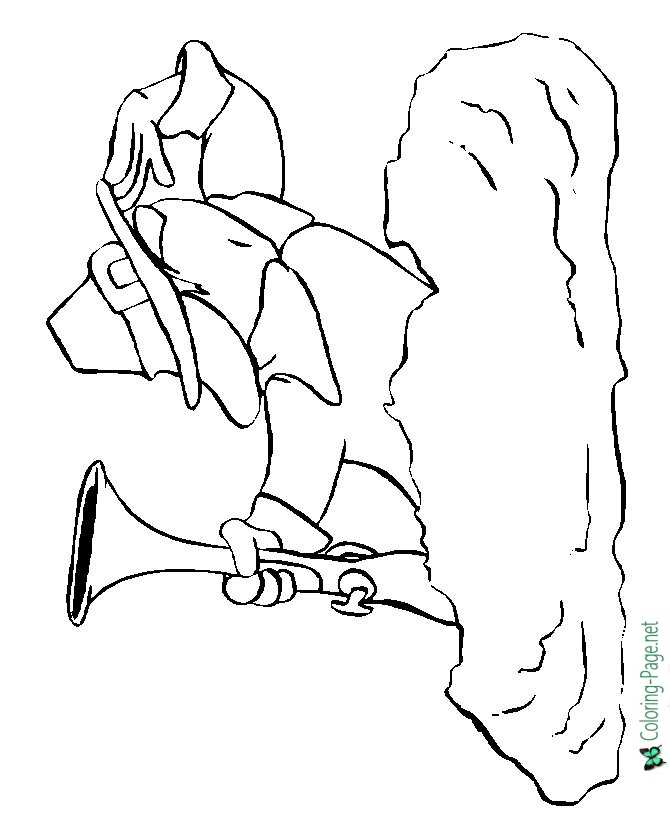 Thanksgiving Coloring Pages Pilgrim Lookout