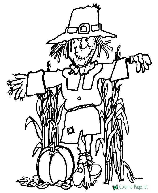 kids thanksgiving coloring page