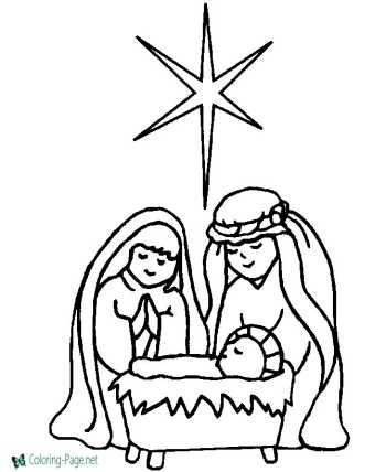 christian christmas coloring pages - Coloring Pages Christian