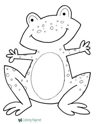 Frogs - nature coloring pages