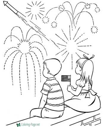 America Independence Day coloring pages