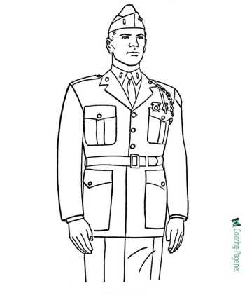 Memorial Day in America coloring pages