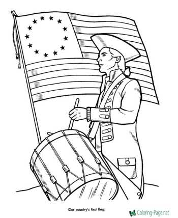 Patriotic coloring pages America