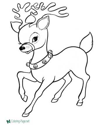 Reindeer Snowman Coloring Pages