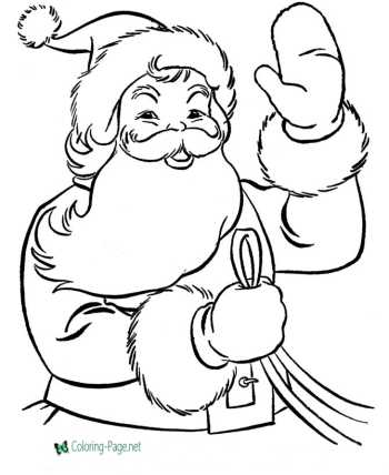 santa thanksgiving coloring pages