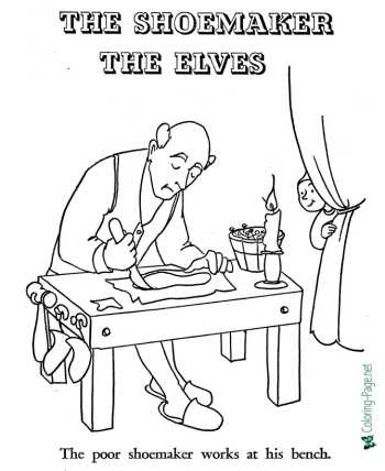 The Shoemaker and the Elves coloring pages