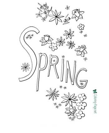Nature coloring pages of Spring