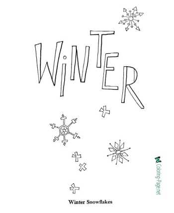 Winter - nature coloring pages