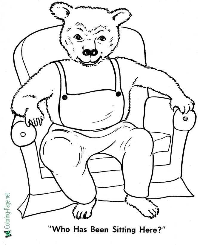 goldilocks and three bears coloring page