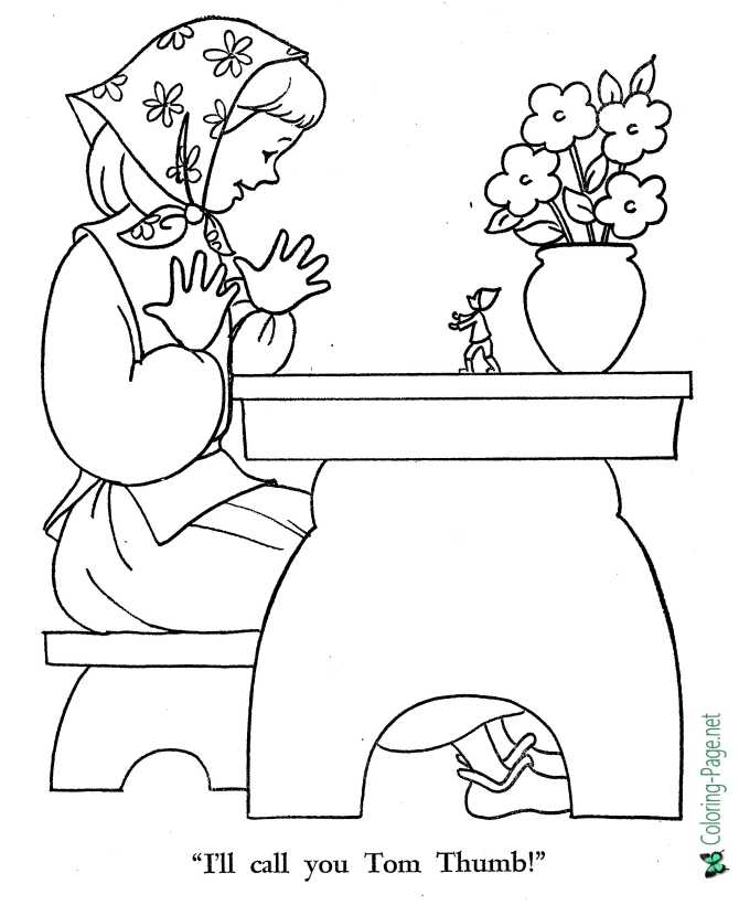 Tom Thumb coloring page